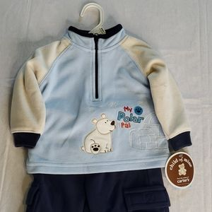 Carter's Child of mine pant Set outfit NWT 3-6M